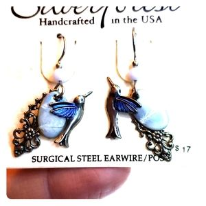 Beautiful hummingbird earrings